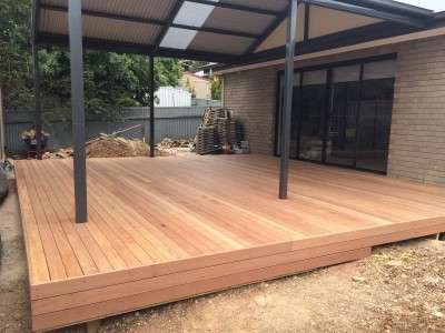 Building a deck and pergola - after
