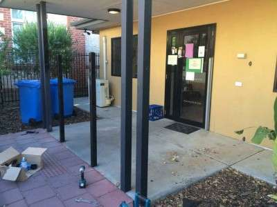 Installation of fencing at childcare centre - before