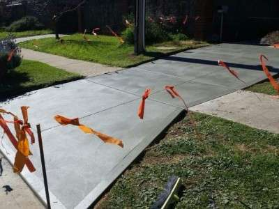 Laying a new concrete driveway - after