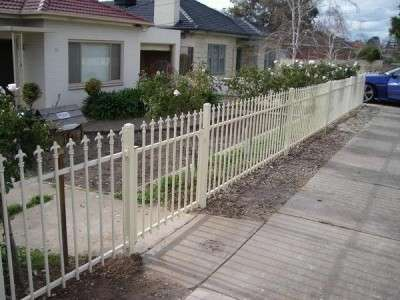Repaired damaged front fence - after
