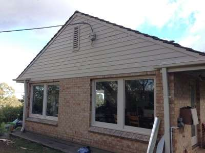Replacing a timber house gable - after