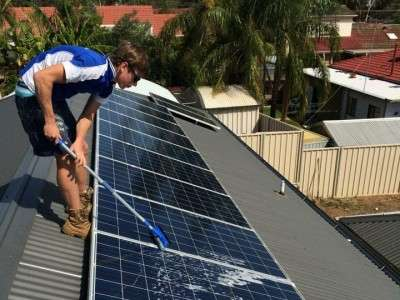 Solar panel cleaning for efficiency