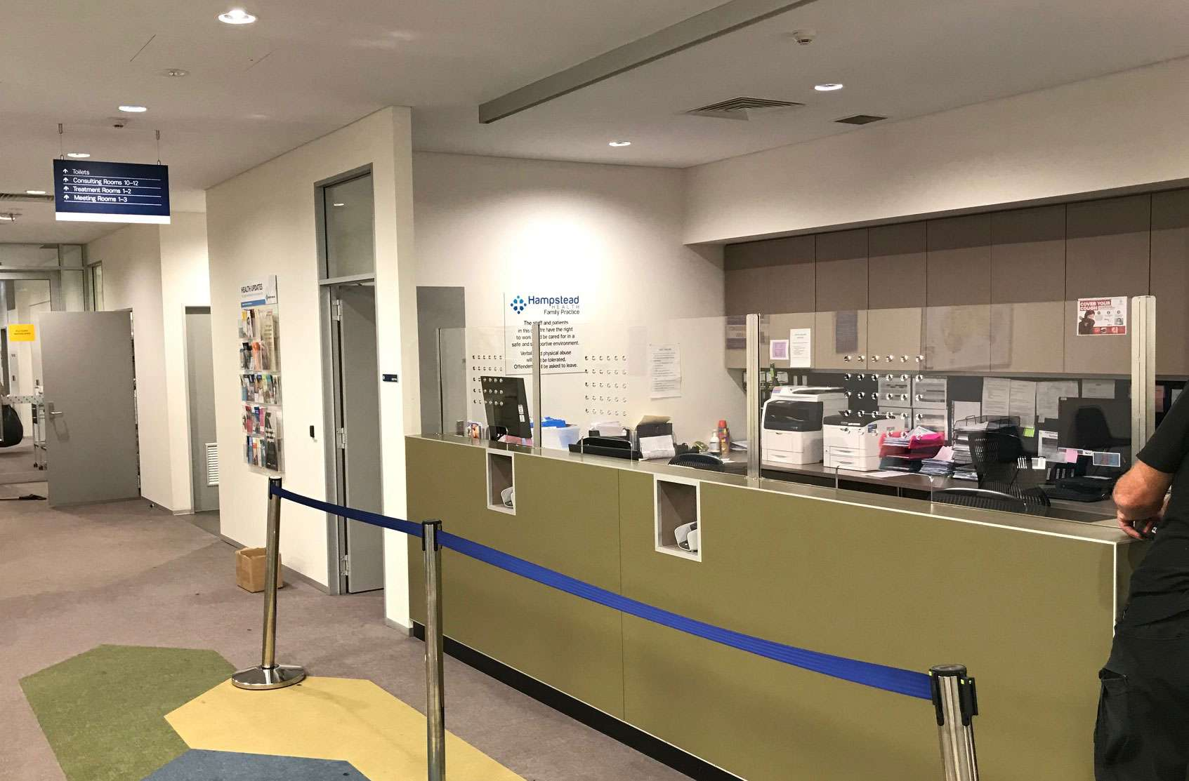 Sneeze Guard at Hampstead Medical Centre